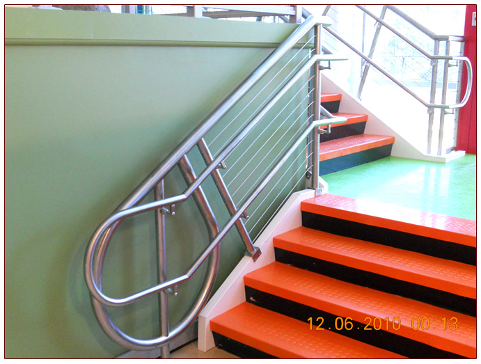 Custom Rail Systems - Stair Risers